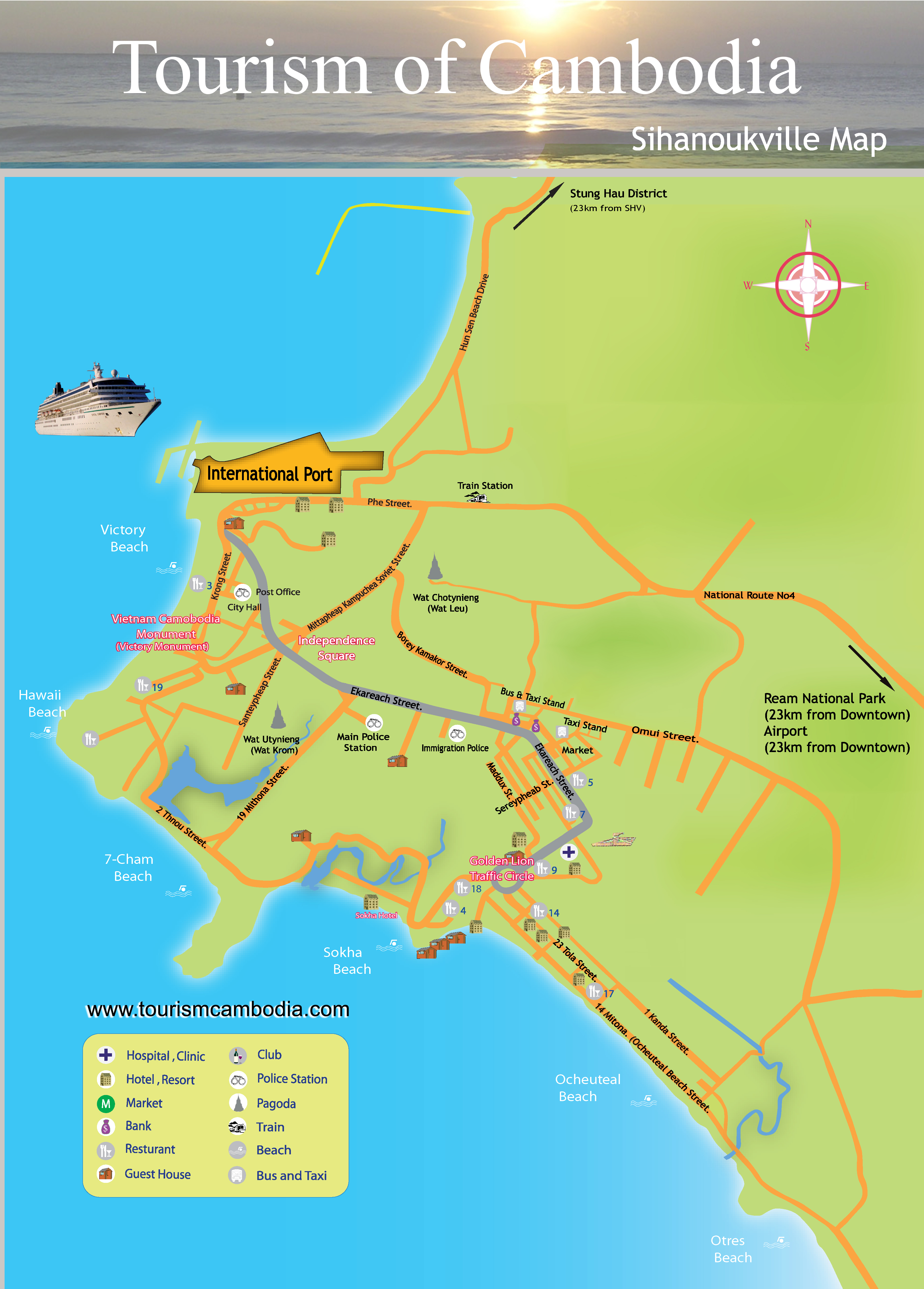 Sihanoukville Map Cambodia Travel Maps Plan Your Trip