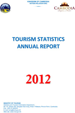 Cambodia Tourism Statistics - Tourist Information Center